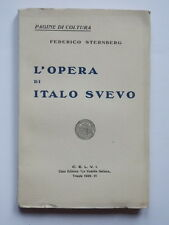 L'OPERA DI ITALO SVEVO Federico Sternberg 1928 Trieste libro