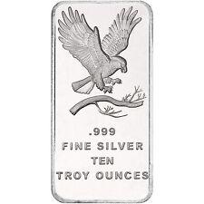 Trademark Bald Eagle 10oz .999 Fine Silver Bar by SilverTowne