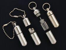 Waterproof Mini Peanut Lighter With Extra Fuel Tank Emergency Survival Fire EDC
