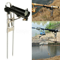 Stainless Steel Fishing Rod Holder with Automatic Tip-Up Hook Setter Bracket
