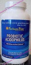 Probiotic Acidophilus 100 Million Active Cultures 250 CAPSULES Puritan's Pride