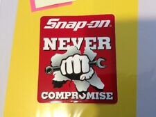 """SNAP-ON TOOLS > """"Never Compromise"""" > COLLECTOR's > Tool Box STICKER > Official"""