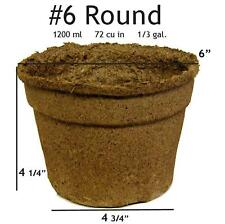 "Biodegradable CowPots 6"" Inch Round Loose (20 Pots /Case)"