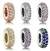 Inspiration Rose Gold Pave Inspiration Spacer With Multicolor Crystal Beads