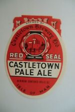 MINT CASTLETOWN ISLE OF MAN PALE ALE BREWERY BEER BOTTLE LABEL