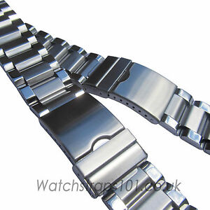 WATCH BRACELET Stainless Steel 26 or 28mm Width Strap Quality Metal FREE UK P&P