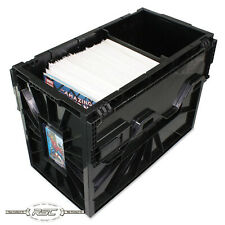 Short Comic Book Bin - Black Plastic Storage Box w/One Partition by BCW - 1-Box