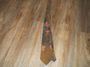 DON LOPER Beverly Hills Orange Iris TIE Necktie Brown