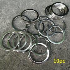 Lots Stainless Steel Keychain Holder Round Circle 25mm Loop Keyrings Metal 10PCS