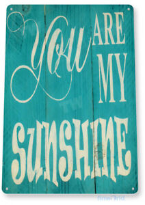 TIN SIGN My Sunshine Blue Beach House Cottage Farm Rustic Décor Kitchen A999
