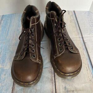 Vintage Docs Dr Martens England Brown 8542 Chunky Platform Boots US Sz 5