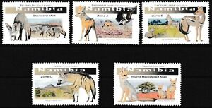 Namibia - Hundeartige Satz postfrisch 2017 Mi. 1580-1584