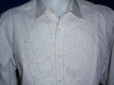 Kenneth Cole Men's Shirt 100% Cotton Size L Long Sleeve Spread Collar NWOT