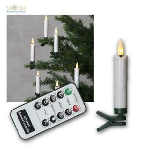 10er-Set LED Christmas Tree Candles Wireless,Wireless Holiday Lights Flickering