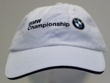 BMW PGA Championship Golf Hat Cap White Strap Back Cog Hill Golf Club Men's OSFA