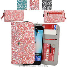 Ladie's Convertible Paisley Smartphone Wallet Cover & Wristlet Clutch ESMLP2-27