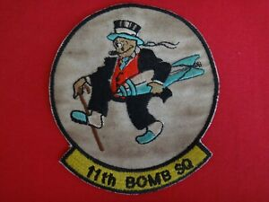 US Air Force 11th Bombardment BOMB Squadron B-52 Mr. JIGGS Patch