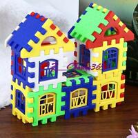 12 - 48 PCS New Children DIY House Building Blocks Construction Brain Toys