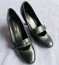 LILLEY & SKINNER Black Leather Mary Jane High Heels - UK 4