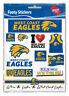 West Coast Eagles AFL LOGO Car Sticker Sheet School Christmas Birthday Gift
