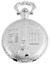 Analoge Silber Taschenuhren mit Mineralglas