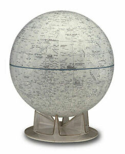 Moon 12 Inch Illuminated Desktop World Globe By National Geographic