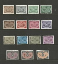"""POLAND 1940 OCCUPATION German General Government """"Official Stamps"""" SG0392-0406"""