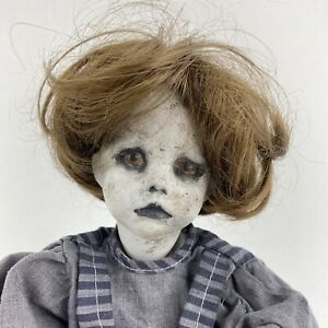 Vintage Creepy Doll Horror Abigail The Zombie Ghost Girl Haunted House Prop