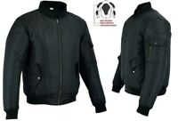 MENS BLACK WATERPROOF CE BREATHABLE TEXTILE MOTORBIKE / MOTORCYCLE BOMBER JACKET