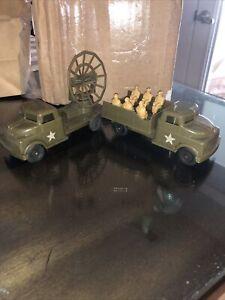 vintage Pyro plastic Army trucks Radar & Personnel Truck