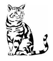 STENCILS CRAFTS TEMPLATES SCRAPBOOKING CAT STENCIL 3b - A4 MYLAR