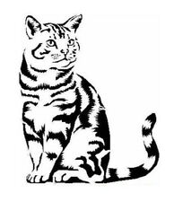 STENCILS CRAFTS TEMPLATES SCRAPBOOKING CAT STENCIL 3b - A4 MYLAR