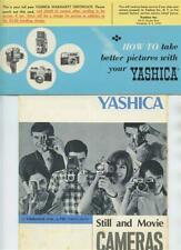 Yashica Still Movie Camera Brochures Take Better Pictures & Warranty Certificate