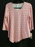 Small Lulu B Asy Coral Blouse UPF 50 Retail $59 Free Shipping
