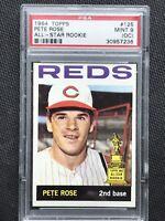 1964 Topps Pete Rose PSA 9 OC #125 All-Star Rookie HOF Cincinnati Reds Mint
