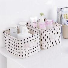 Creative Sundries Box Foldable Storage Bin Household Cosmetic Desktop Basket W