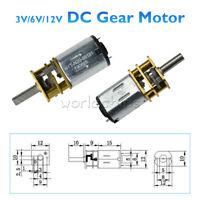 DC 3V/6V/12V GA12-N20 Micro Speed Reduction Electric Gear Motor Metal  Gearbox