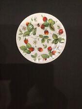 Roy Kirkham Alpine Strawberry Salad Plate Bone China England Excellent