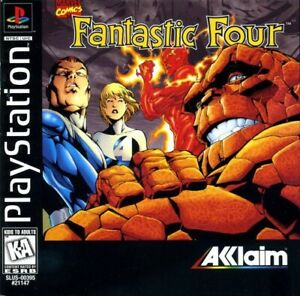 Fantastic Four PS1 Great Condition Fast Shipping