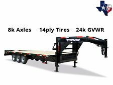 New 8½' x 25' (20'+5') Gooseneck Equipment Trailer 24k gvwr
