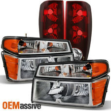 Fit 04-12 Chevy Colorado | Gmc Canyon Truck Clear Headlights + Tail Lights (Fits: Gmc)