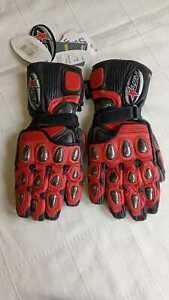 RST RACE STAR 7 MOTORBIKE GLOVES CARBON KNUCKLE PROTECTION LEATHER WITH KEVLAR