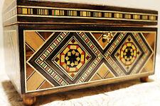 Wooden Jewelry Box handmade with Mosaik inlay,Hamburg,Damaskunst K  4-3-44