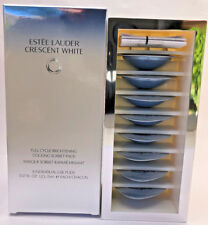 Estee Lauder Crescent White Full Cycle Brightening Cooling Sorbet Pack (8) BNIB