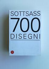 ETTORE SOTTSASS 700 disegni Skira 2005 MENPHIS Mendini Ico Parisi Vistosi Scarpa