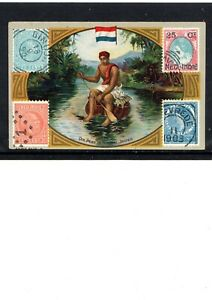 EARLY NETHERLANDS INDIES COFFEE TRADE CARD, MAIL DELIVERY IN DUTCH INDIES