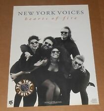 New York Voices Hearts of Fire Poster Original 1991 Promo 20x14 Jazz Rare