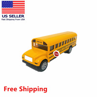 """New York School Bus 5"""" Diecast w Pullback Action, Stop Sign, and opening Doors"""