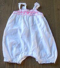 MILKY BABY GIRLS WHITE SHORTIE ROMPER SZ 0