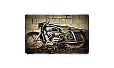 1958 Dkw 175 Bike Motorcycle A4 Retro Metal Sign Aluminium